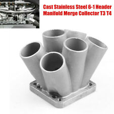 "Cast Stainless 6-1 Header Manifold Merge Collector T3 T4 FFor 47mm/1.75"" OD Tube"