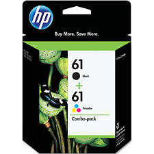 2-PACK HP GENUINE 61 Black & Tri-Color Ink (NO RETAIL BOX) DESKJET 3510 3512