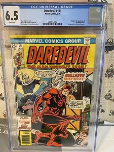 "Daredevil #131  CGC 6.5  ""1st app  Bullseye""..WATCH Out For BULLSEYE ..CGC FRESH"