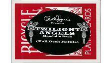 MAGICO CARTA trucco Twilight Angel full Deck (rosso mandolino) Paul Harris