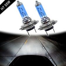 2X DC 12V Xenon Bright H7 55W 6000K Gas Halogen Headlight White Light Lamp Bulbs
