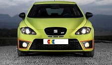 GENUINE SEAT LEON CUPRA FR 06-13 FRONT N/S LEFT O/S RIGHT FOG LIGHT GRILL SET