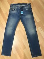 NWD Mens Diesel BELTHER STRETCH Denim 0850W BLUE SLIM W32 L32 H7 RRPCHF179