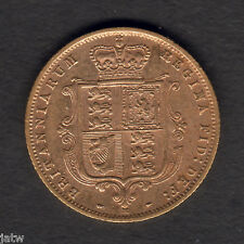 Australia.  1886 Melbourne - 1/2 Sovereign.. Trace Lustre..   aVF/VF - RARE Date