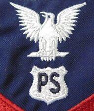 USCG US COAST GUARD PETTY OFFICER E4-6 PORT SECURITY BLUE SERGE SLEEVE RANK RATE