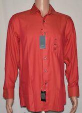Arrow #6303 NEW Men's Size 15.5 / 32-33 Twill Red Regular Fit Dress Shirt