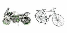 Fascinations ICONX Kawasaki Ninja H2R Motorcycle & Classic Bicycle Model Kits