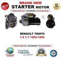 Para Renault Trafic 1.6 1.7 1984-1989 Motor de Arranque Nuevo 1.4kW 10 Dientes
