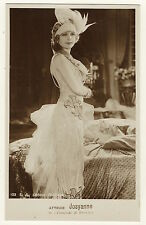 PORTRAIT OF PRETTY FRENCH FILM ACTRESS JOSYANNE   (VINTAGE REAL PHOTO POSTCARD)
