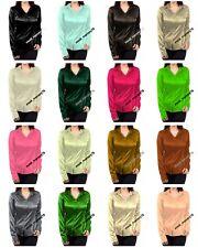 Satin shirt / Blouse Top For Girls Puff Shoulder design long Sleeve Shirt S81-1
