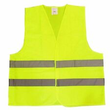 HI VIS High Viz Visibility Vest Safety Waistcoat Large Size Yellow-Sakura SS3330