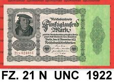 (71) Ros.79 d ( FZ: 21 N ) 50 000 Mark UNC Pick 79 Germany Inflation 19.11.1922