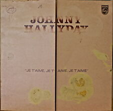 JOHNNY HALLYDAY: Je T'Aime, Je T'aime, Je T'Aime-NM1974LP FRENCH IMP UNUSUAL COV