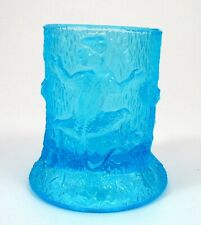 Antique Teal Blue EAPG Monkey on Tree Stump Figural Glass Toothpick Holder