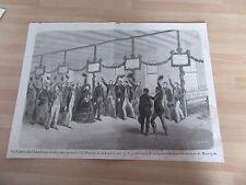 GRAVURE 1870 COMTE  DE CHAMBRUN LOZERE DEPUTE ELU FETE DU SCUTIN MARVEJOLS
