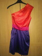 BNWT Lipsy One Shoulder Satin Colour Block Pocket Dress - size 6