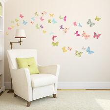 Decowall DW-1408 Patterned Butterflies Nursery Wall Stickers For Girls KIDS