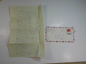Vietnam War Letter 1967 Helicopter Rescue Picked Up American Pilot Aircraft Went