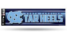 North Carolina Tar Heels Glitter Bumper Sticker [NEW] NCAA Auto Car Truck Decal