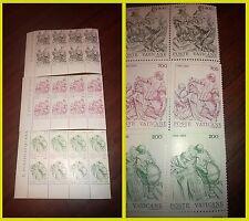Vaticano 1982 riforma del calendario 3 angoli di foglio francobolli NUOVI