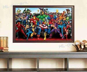 UNFRAMED Avengers Super Hero Heroes  Canvas Prints Wall Art Home Decor Kids