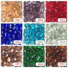 200g 13-14mm Small Transparent Glass Gems Drops Nuggets Beads DIY Craft Mosaic