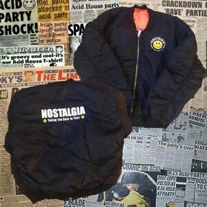 Nostalgia MA1 Bomber Jacket Rave Old Skool Hardcore Jungle Trance House Music