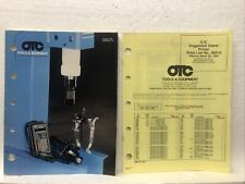 1983 Vintage OTC Owatonna Industrial Auto Tool + Equipment Catalog + price list