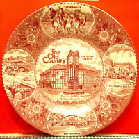 Old English Staffordshire Ware Plate for The Old Country, Williamsburg VA BUSCH