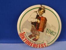 OKTOBERFEST KITCHENER WATERLOO 1982 ACCORDION PARTY MASCOT BUTTON SOUVENIR PIN