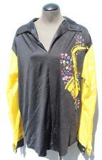 Vtg Men's Custom Made Retro Disco Costume Dance Saxophone Funky Shirt Lrg