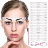 12pcs/set Women Eyebrow Shaping Stencil Grooming Shaper Template Makeup Tool Kit