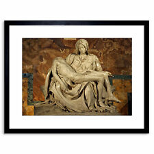 Michelangelo Pieta 1499 Old Master Reproduction Framed Art Print 9x7 Inch
