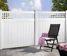 Kunststoff Pfosten für Zaun Rankgitter weiß, Streichfrei, Sichtschutzzaun, Zaun