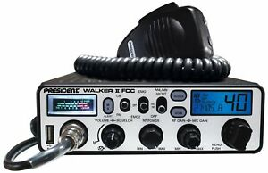 President Walker II FCC 40 Channel CB Radio AM PA ASC USB VOX 12v DIN Size
