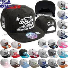 California Republic Embroidered Baseball Caps CALI Bear Hat Adjustable Mens Cap