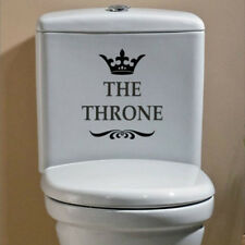 Novelty THE THRONE Toilet Seat Sofa Chair Wall Stickers Bathroom Home Decoration