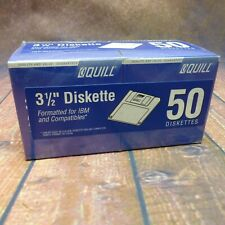 """Quill 3 1/2"""" Double Sided High Density Diskettes HD IBM Pack Of 50 #7-10314FB"""