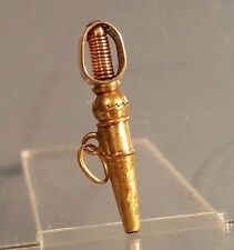 Gold cased pocket watch key on screw swivel possibly for miniature pocket watch