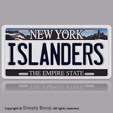 NY New York ISLANDERS Aluminum Novelty Vanity License Plate Auto Tag Brand New