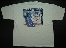Rare VTG NAUTICA Competition San Marino Spell Out T Shirt 90s Cycling White 2XL