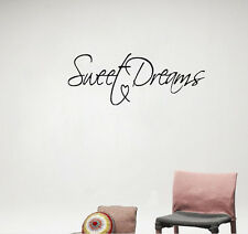 Modern Wall Sticker Sweet Dreams Vinyl Art Mural Wall Quote Saying Decals Decor