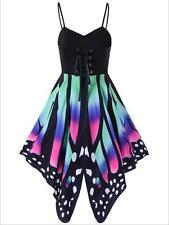 Woman Spghetti Strap dress Colorfull Butterfly printed bandage dress S-2XL dress