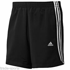 adidas Originals 3 Stripes Chelsea Mens Shorts Climalite Fitness Training L Black
