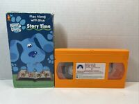 Blues Clues - Story Time (VHS, 1998, Orange Tape) Play Along With Blue Nick Jr.