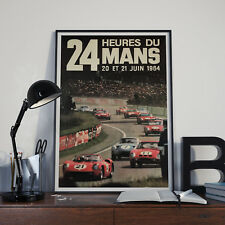 24 Hours Le Mans Vintage 1964 Racing  Poster Print Poster Picture A3 A4