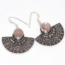 """Earrings 1.6"""" Ethnic Gift Gw Sunstone 925 Silver Plated Traditional"""