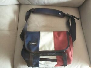 Vintage TIMBUK2 Classic Messenger Bag Extra Small XS Blue White Red Cycle