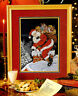 UP ON THE ROOFTOP SANTA CHRISTMAS CROSS STITCH PATTERN BY MICHELE JOHNSON