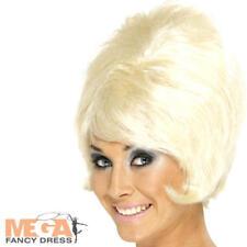 Blonde Beehive Wig 1960s Fancy Dress Mod Girl 60's Costume Ladies Adult Wig New